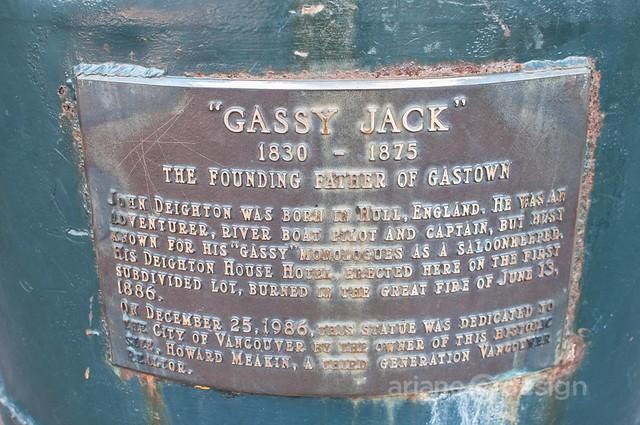 Gassy Jack memorial emblem