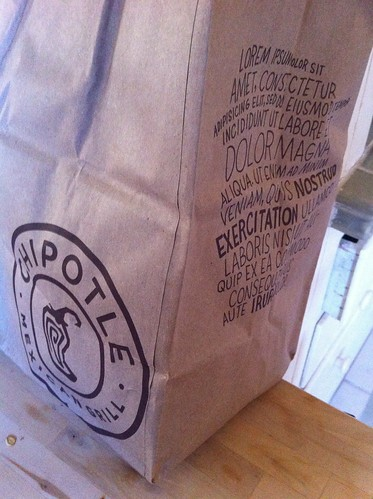 Lorem Ipsum Chipotle Bag on Flickr