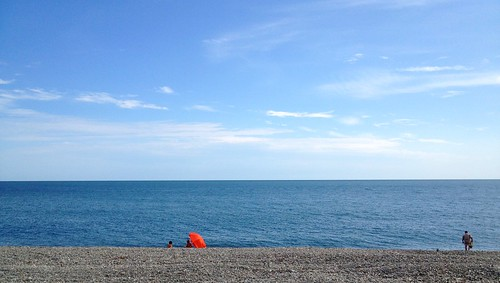Beach near Olympic park in Sochi (Adler)