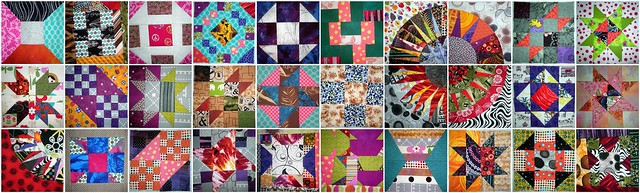 Quilt Block Mosaic Part 2 - made from 4 different QALs
