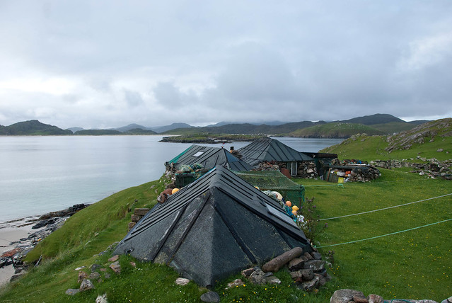 Sunken houses on the island of Pabay - Trip to the Outer Hebrides