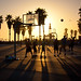 Sunset at Venice Beach Basketball Courts - Los Angeles CA by ChrisGoldNY