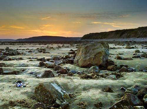 summer beach june wales sand carmarthenshire rocks dusk hill boulder estuary goldenhour kidwelly 2011 carmarthenbay