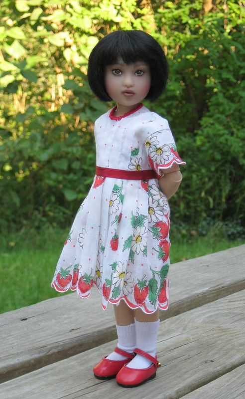 Suchin in strawberry hanky dress