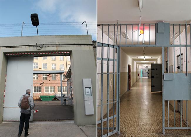 Hohenschönhausen Prison gate corridor