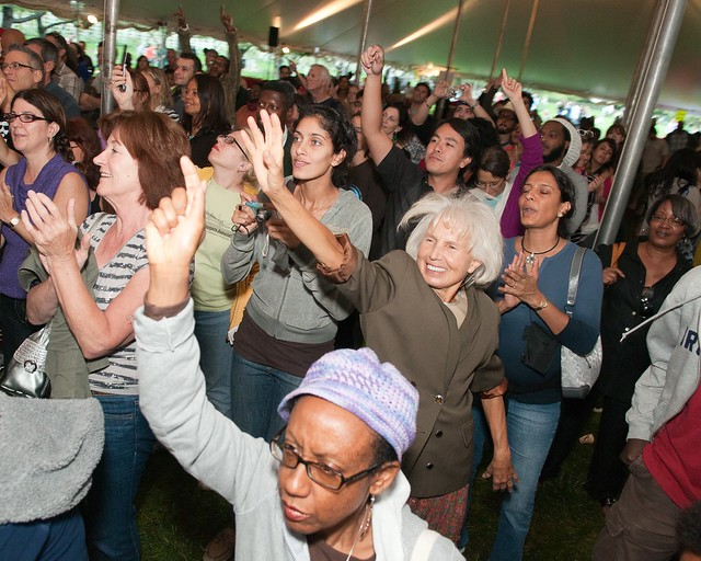 Visitors enjoy a performance at BBG's Chile Pepper Fiesta. Photo by Jason Gardner.