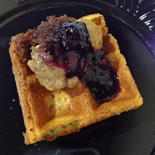 @Droolius - Seared Foie Gras, Fried Rosemary Waffle, Bacon Chutney @ChefFonzo of K Restaurant #OrlTaste