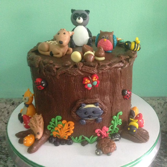 Woodlands Cake by Melody Ines Ting of Gotta Love Cakes