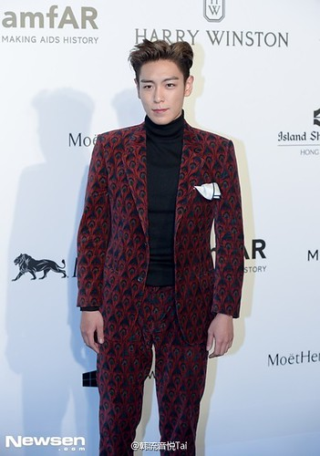 TOP - amfAR Charity Event - Red Carpet - 14mar2015 - yinyuetaikoreamusic - 04
