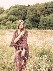 The Boho Folk Dress Andrea F., Fashionblogger 来自 somewhere, Germany