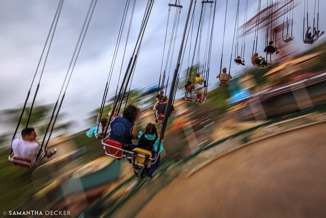 Riding the Silly Symphony Swings