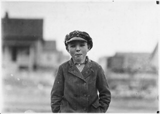 "Boy from Loray Mill. ""Been at it right smart two years."" Gastonia, N.C, November 1908"