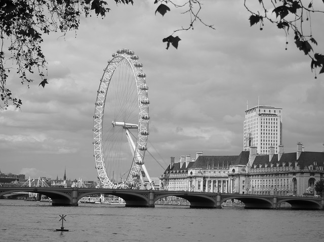 London Eye bw3