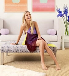 Actress Paltrow on furniture
