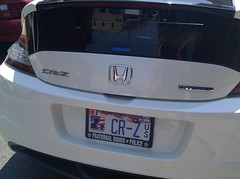 automobile, automotive exterior, vehicle, automotive design, honda, honda cr-z, bumper, land vehicle, vehicle registration plate, hybrid vehicle,