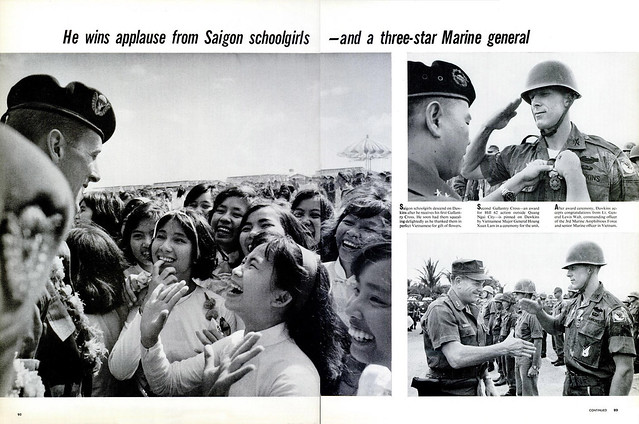 LIFE Magazine - April 8, 1966 (2) - He wins applause from saigon schoolgirls--and a three-star Marine general