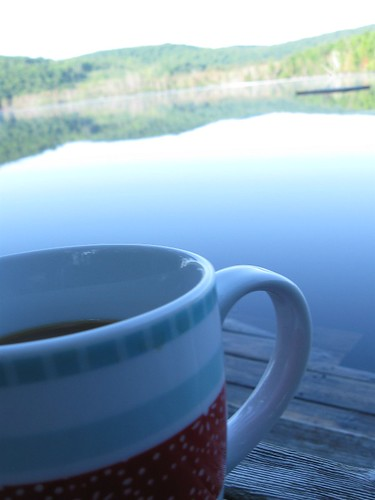 Morning Cuppa on the Dock