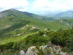 La crête autour de Bocca Sant'Antone, la forêt de Santa Maria Siché et le golfe d'Ajaccio