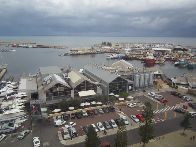 View from ferris wheel, Fremantle