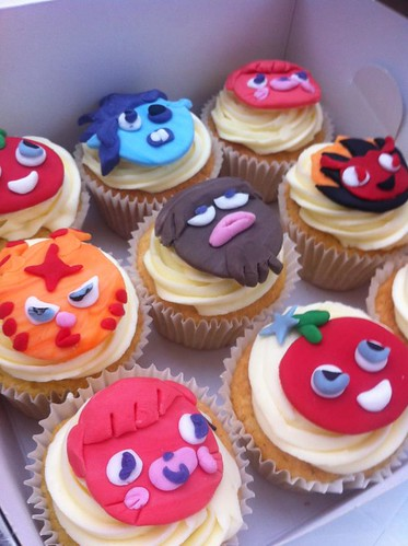 Moshi Monster and Octonauts and Justin Bieber cupcake cuteness from