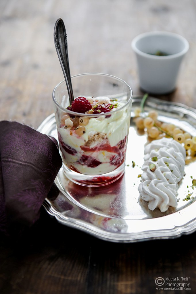 Saffron Raspberry Eton Mess (0086) by Meeta K. Wolff