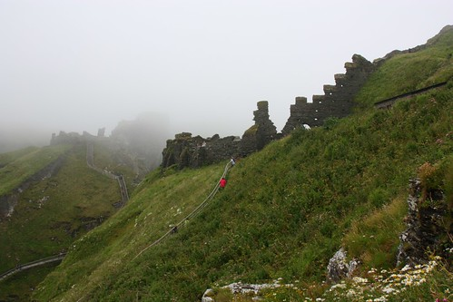 Tintagel in the mist