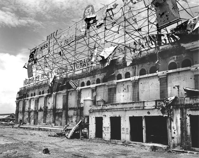 Insular Ice Plant & cold storage, Manila, Philippines, 1945