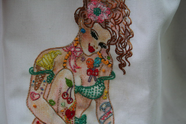 Close up Candy (Embroidered by Maureen)