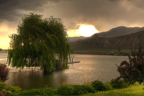 sky storm tree nature rain clouds river dark landscape underwater flood willow kamloops hdr overflow 40d souththompson kellycoster