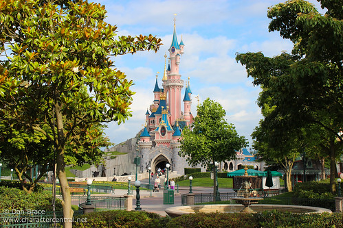 View towards Sleeping Beauty Castle