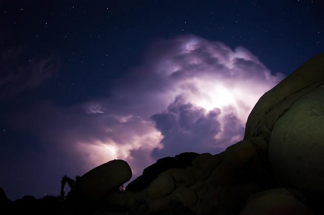 Lightning in Joshua Tree