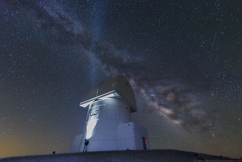 Stargazing the Milky Way over Aristarchos Telescope