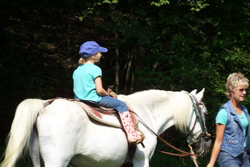 Q6 on her horse