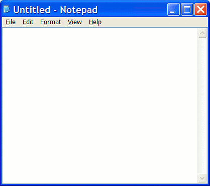 Notepad Screen Shot