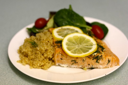 Dill and lemon salmon