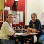 Audrey & Dan at Monjayaki Restaurant - Tokyo, Japan