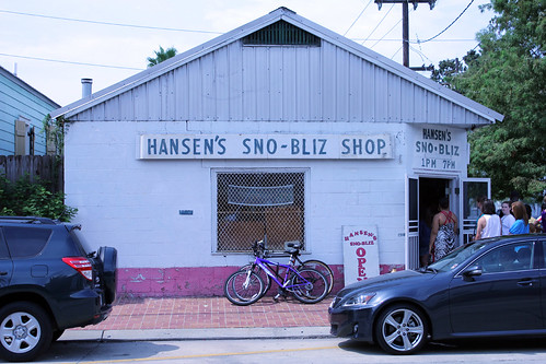 Hansen's Sno-Bliz. Photo George Ingmire.