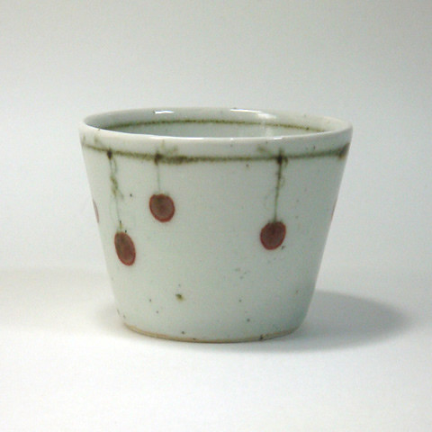 砥部焼 中田窯 荒土そば猪口(大)/吊るし柿