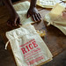 Close up rice bags.