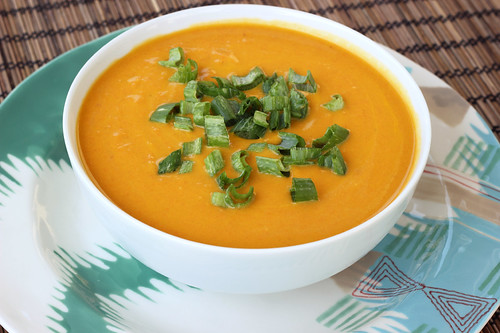 Chilled Carrot Ginger Coconut Soup - Vegan + Gluten-free