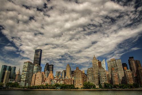 nyc newyorkcity newyork skyline clouds day cloudy manhattan hdr