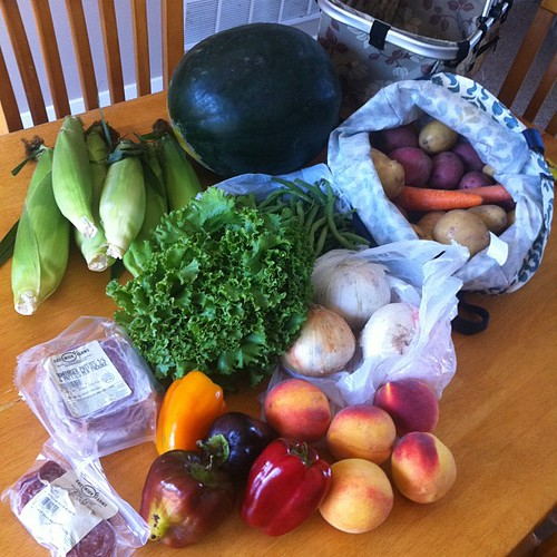 Stocked up on some local foods from the Hudsonville farmers market today! #eatlocal