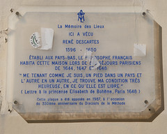 Photo of René Descartes clear plaque