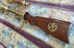 Brass steampunk rifle stock butt