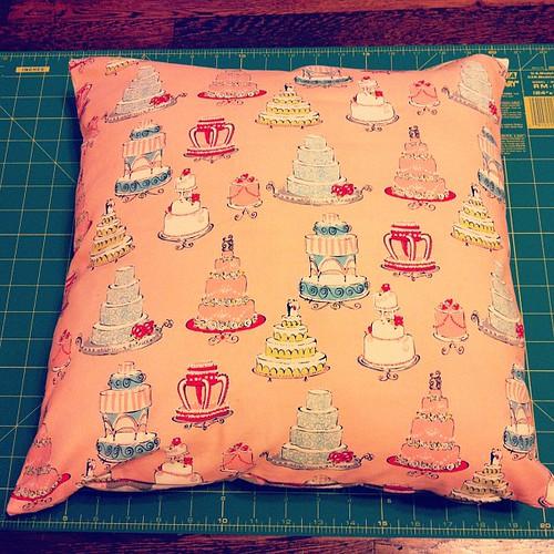Cake pillow.