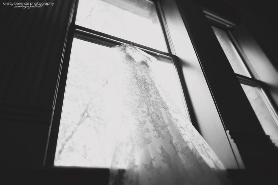 Wedding Gown in Window