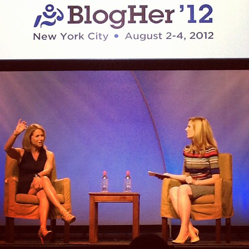 @katiecouric at #blogher12 lunch - AMAZING. Also? She has KILLER legs!