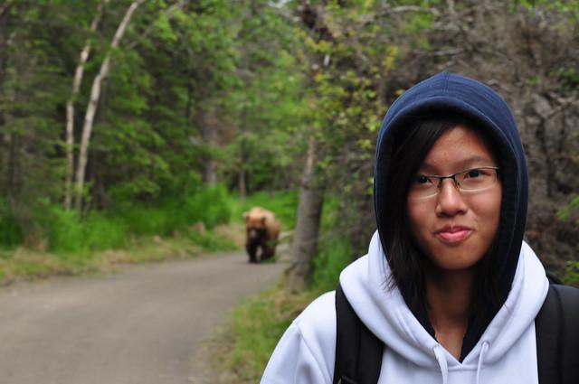 Close encounter with a bear [Katmai National Park]