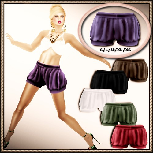A&A Fashion Mesh Balloon Shorts