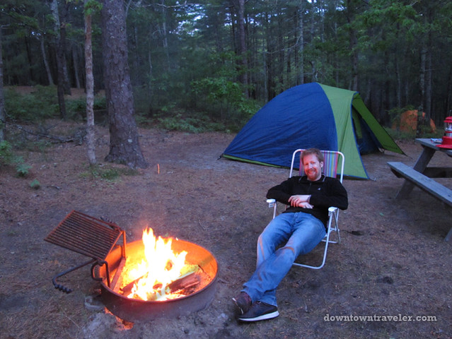 Cape Cod camping fire